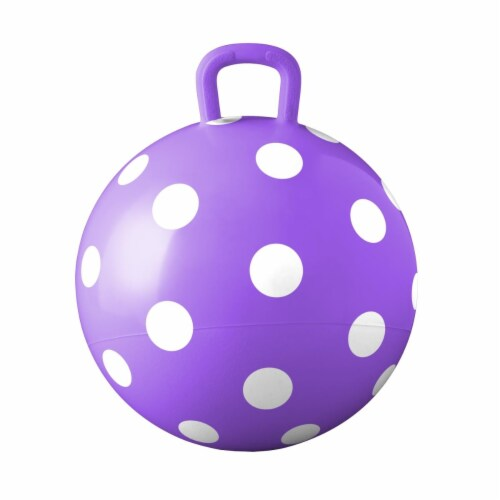 Hedstrom Entertainment 55-1460PURP-1P 15 in. Polka Dot Purple Hopper Perspective: front