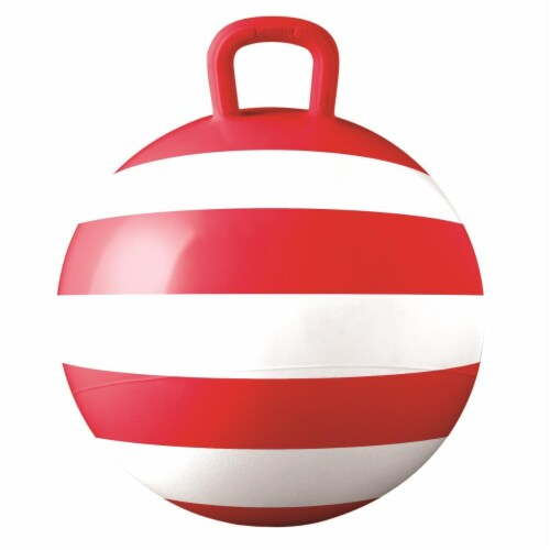 Hedstrom Entertainment 55-1461RED-1P 15 in. Striped Red Hopper Perspective: front