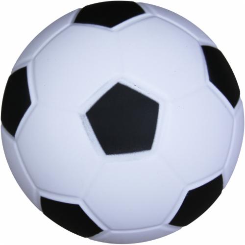Hedstrom Junior Athletic Foam Soccer Ball - White/Black Perspective: front