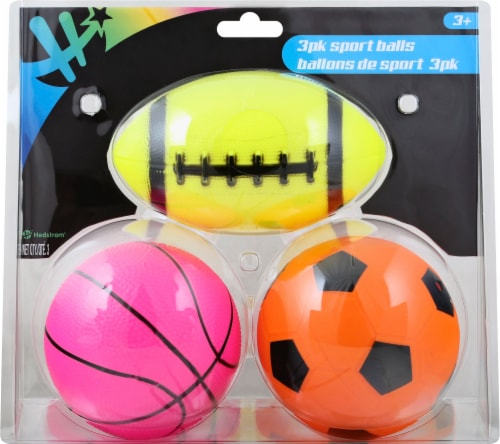 Hedstrom Toys Three pack Sports Balls Perspective: front