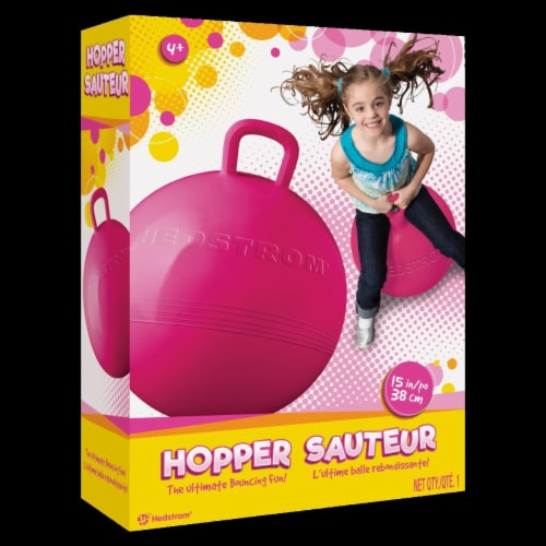Hedstrom 55-14003PNK-1P 15 in. Fun Hop Outdoor Play, Pink Perspective: front