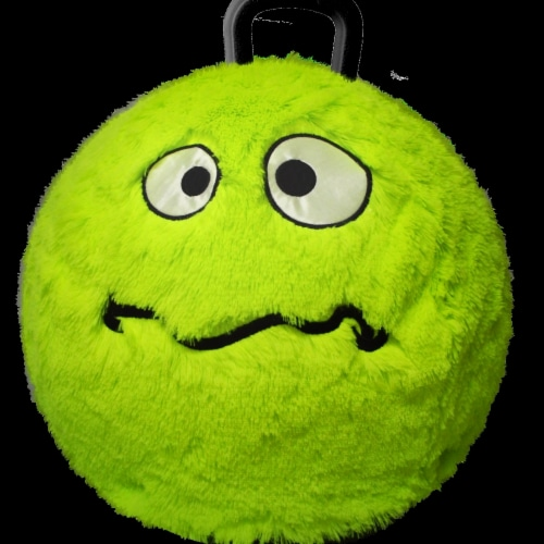 Hedstrom Entertainment 55-9673-1P 18 in. Plush Hop Green Monster with Pump Perspective: front
