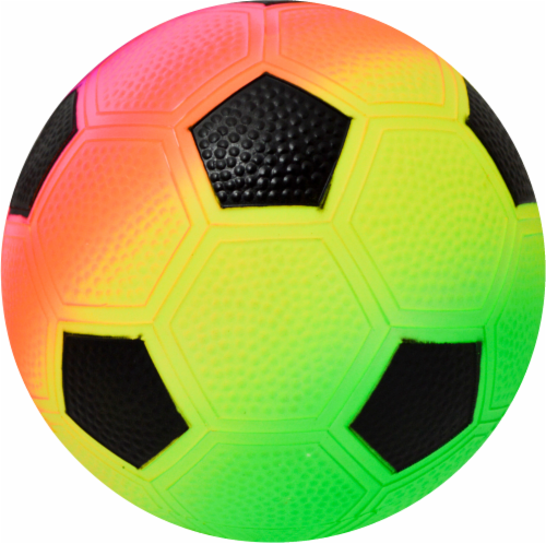 Hedstrom Vinyl Soccer Ball - Rainbow Perspective: front
