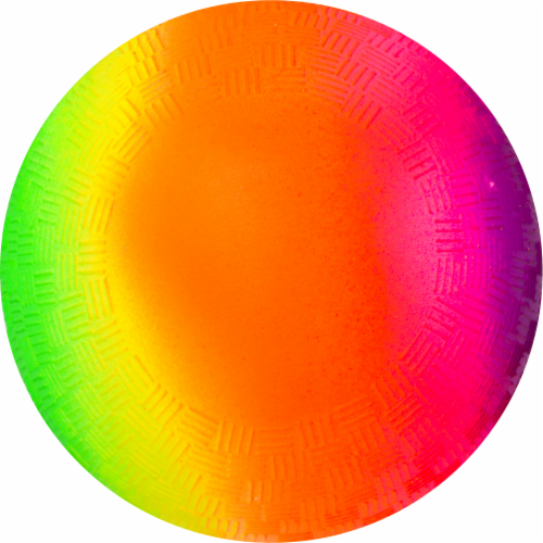Hedstrom Vinyl Playground Ball - Rainbow Perspective: front