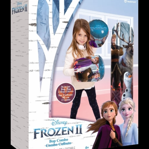 Hedstrom 56-85341-1P 10 in. Disney Frozen 2 Bop Combo with Gloves, Multi Color Perspective: front