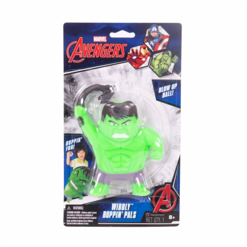 Ball Bounce and Sport Inc. Marvel Avengers Hulk Wibbly Boppin' Pal Perspective: front