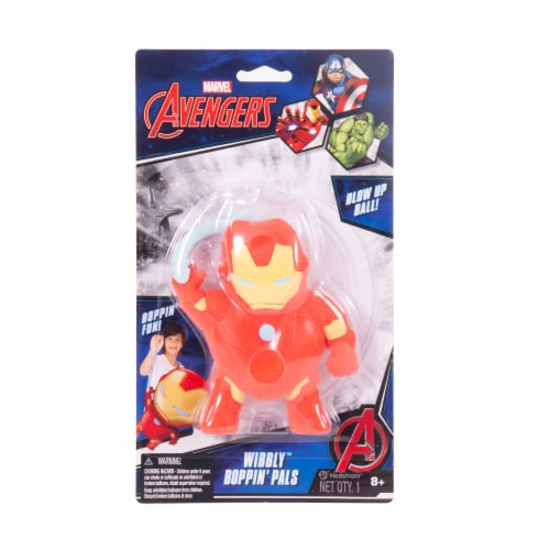 Ball Bounce and Sport Inc. Marvel Avengers Iron Man Wibbly Boppin' Pal Perspective: front