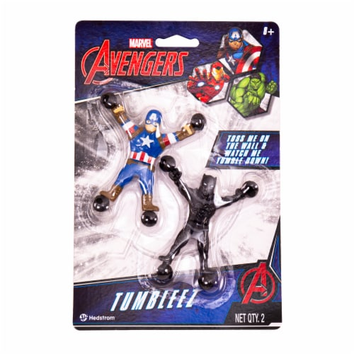 Hedstrom Captain America & Black Panther Toy Pair Perspective: front