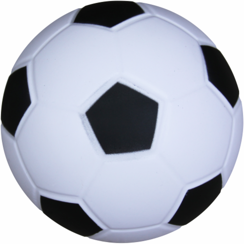 Hedstrom Mini Athletic Foam Soccer Ball - White/Black Perspective: front