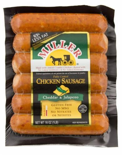 Miller® Jalapeno & Cheese Chicken Sausage Perspective: front