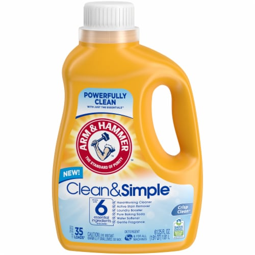 Arm & Hammer Crisp & Clean Clean & Simple Laundry Detergent Perspective: front
