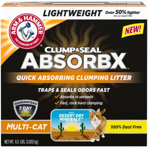 Arm & Hammer™ Clump & Seal AbsorbX Multi-Cat Litter Perspective: front