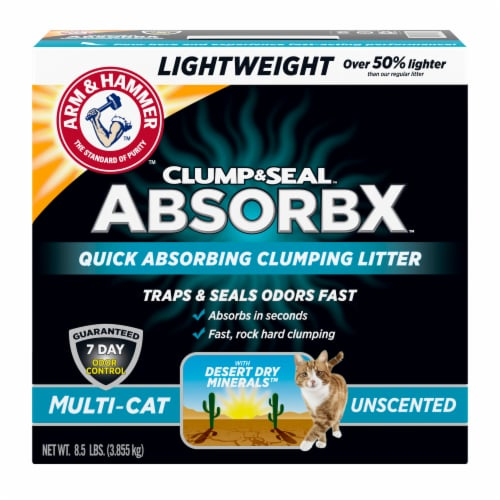 Arm & Hammer™ Clump & Seal AbsorbX Multi-Cat Unscented Litter Perspective: front