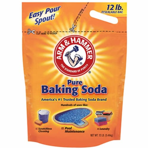 Arm & Hammer  Baking Soda  No Scent Cleaning Powder  12 lb. - Case Of: 1; Perspective: front