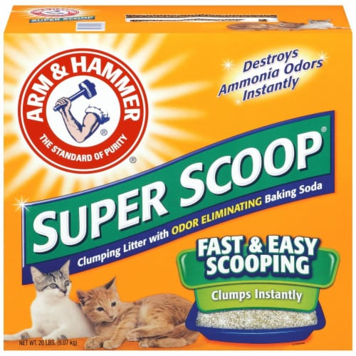 Arm & Hammer Super Scoop Clumping Cat Litter Perspective: front