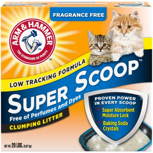 Arm & Hammer Super Scoop Fragrance Free Clumping Cat Litter Perspective: front