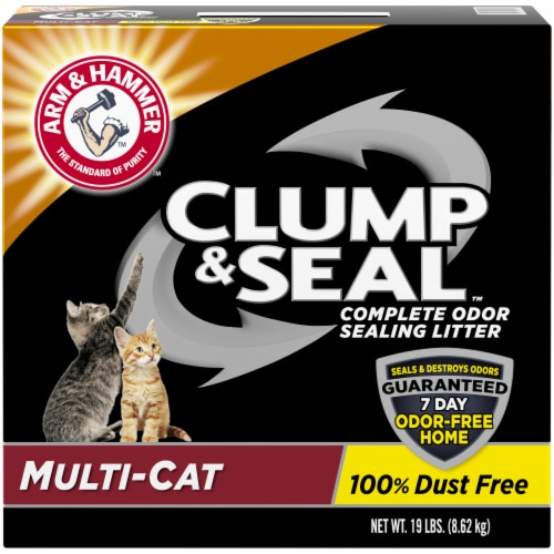 Arm & Hammer Clump & Seal Multi Cat Complete Odor Sealing Litter Perspective: front