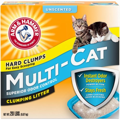 Arm & Hammer Multi Cat Unscented Clumping Litter Perspective: front