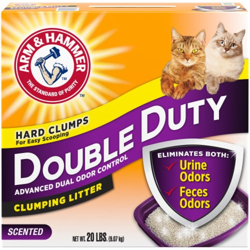 Arm & Hammer Double Duty Clumping Cat Litter Perspective: front
