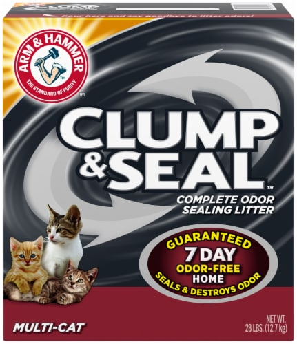 Arm & Hammer Clump & Seal Multi-Cat Complete Odor Sealing Cat Litter Perspective: front