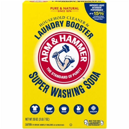 Arm & Hammer Super Washing Soda Detergent Booster Perspective: front