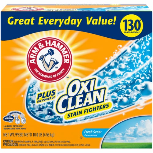 Arm & Hammer Plus Oxi Clean Fresh Scent Laundry Detergent Perspective: front
