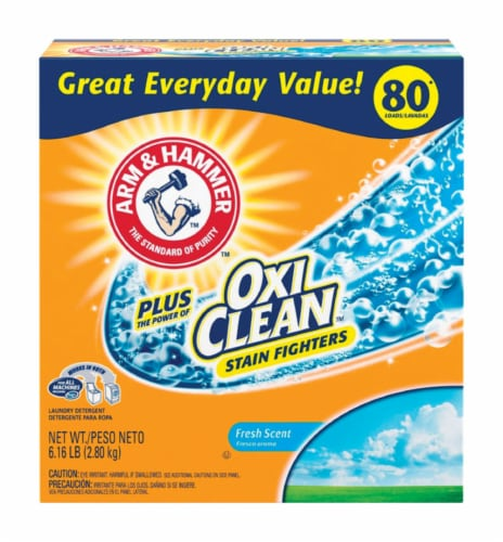 Arm & Hammer  Fresh Scent Laundry Detergent  Powder  6.16 lb. - Case Of: 4; Perspective: front