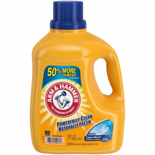 Arm & Hammer Clean Burst Liquid Laundry Detergent Perspective: front