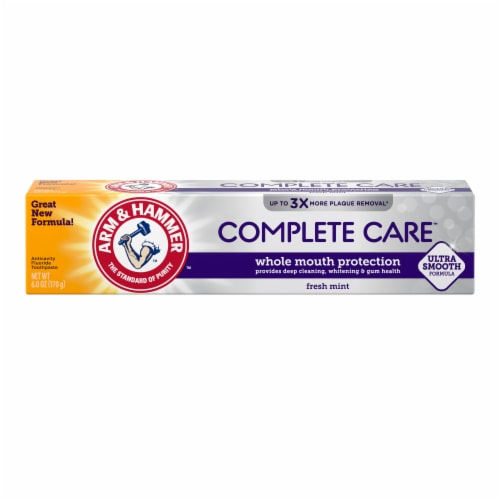 Arm & Hammer CompleteCare Fresh Mint Fluoride Anticavity Toothpaste Perspective: front