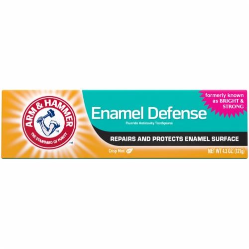 Arm & Hammer Bright & Strong Truly Radiant Crisp Mint Whitening Toothpaste Perspective: front