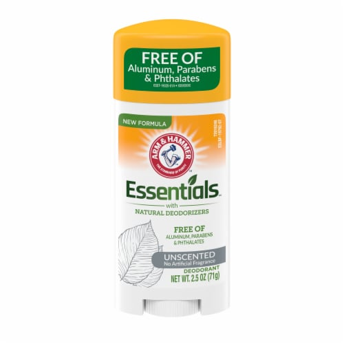 Arm & Hammer Essentials Unscented Natural Deodorant Perspective: front