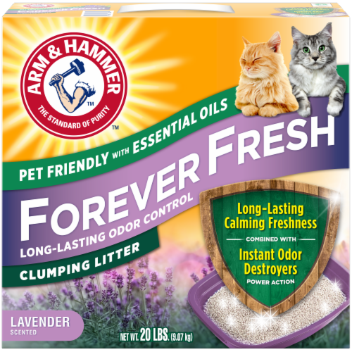 Arm & Hammer Forever Fresh Lavender Scented Clumping Litter Perspective: front