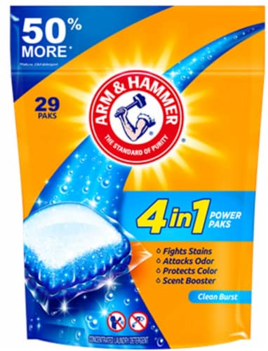 Arm & Hammer 4-in-1 Power Paks Concentrated Laundry Detergent Perspective: front