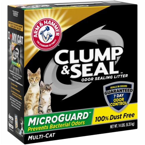 Arm & Hammer Clump & Seal Multi-Cat MicroGuard Litter Perspective: front