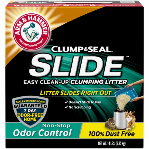 Arm & Hammer Slide Easy Clean-Up Non-Stop Odor Control Clumping Cat Litter Perspective: front