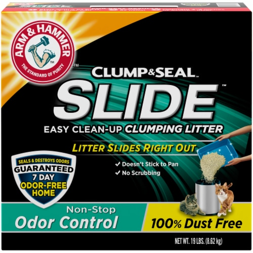 Arm & Hammer Clump & Seal Slide Odor Control Clumping Cat Litter Perspective: front
