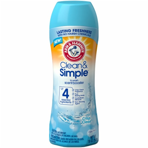 Arm & Hammer Clean & Simple Crisp Clean In-Wash Scent Booster Perspective: front