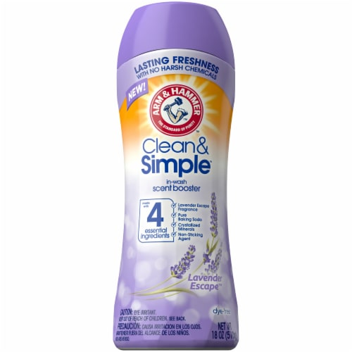 Arm & Hammer Clean & Simple Lush Lavender In-Wash Scent Booster Perspective: front
