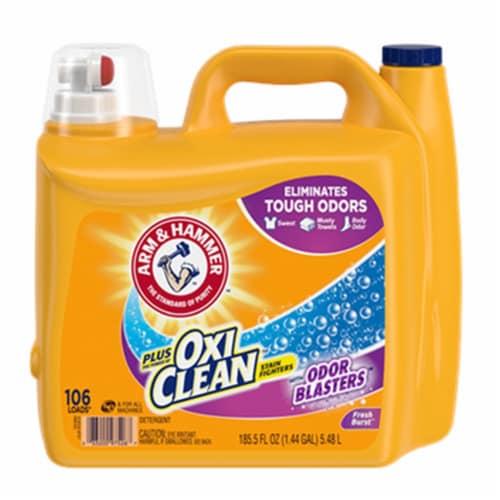 Arm & Hammer Oxi Clean Plus Fresh Burst Liquid Laundry Detergent Perspective: front