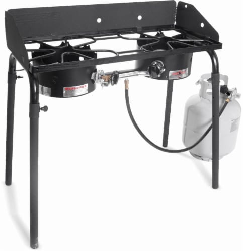 Camp Chef Explorer Double Burner Propane Stove Perspective: front