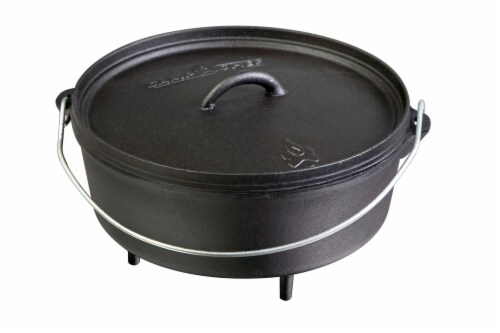 Camp Chef Cast Iron Classic Standard Dutch Oven Perspective: front