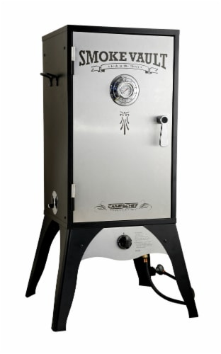 Camp Chef Wood Chunk Propane Smoker with Water Tray Perspective: front