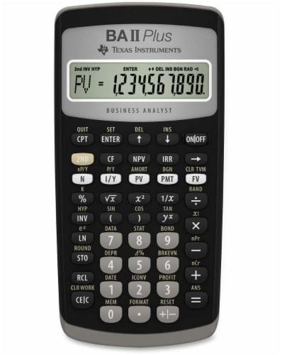 Texas Instruments BA II Plus Calculator - Black Perspective: front