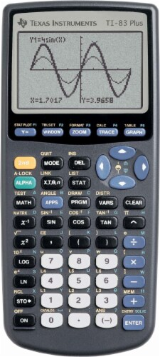 Texas Instruments TI-83 Plus Graphing Calculator Perspective: front