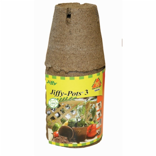 Jiffy 3 In. W. Round Peat Pot (10-Pack) JP310 Perspective: front