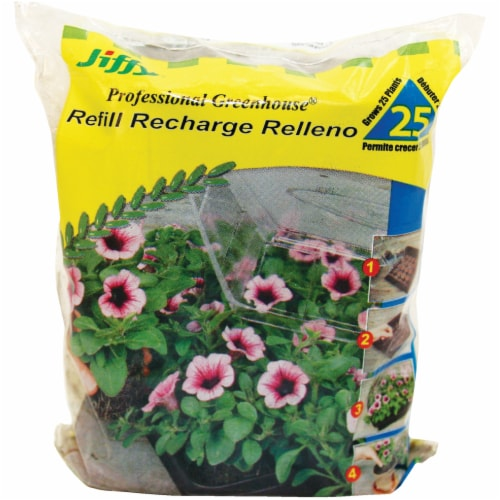 Ferry-Morse Jiffy Refill Recharge Relleno Peat Pellets Perspective: front