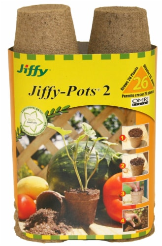 Ferry-Morse Jiffy-Pots Planters - Brown Perspective: front