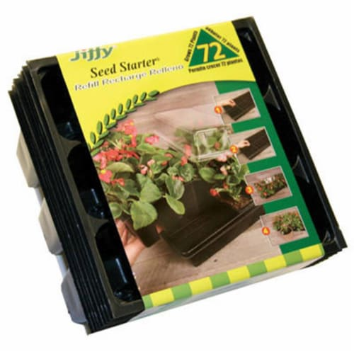 Jiffy 72-Cell Seed Starter Greenhouse Seed Start Kit Refill TR72 Perspective: front