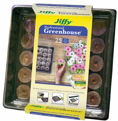 Jiffy 25 Cell Professional Greenhouse Perspective: front