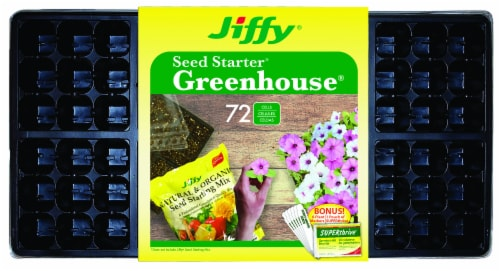 Ferry-Morse Jiffy 72-Cell Seed Starter Greenhouse Perspective: front